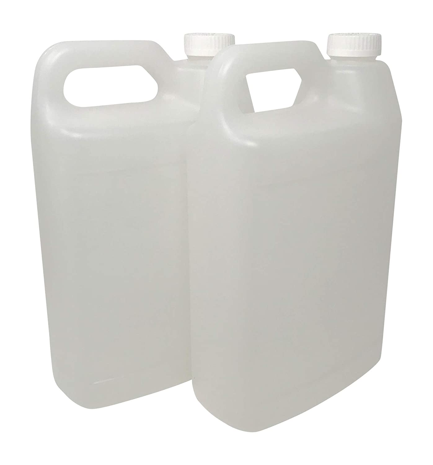 Made in USA CSBD 1 Gallon Plastic F-Style Jugs with Child Resistant Lids F-Style Residential and Commercial Uses HDPE Plastic 2, 1 Gallon BPA Free