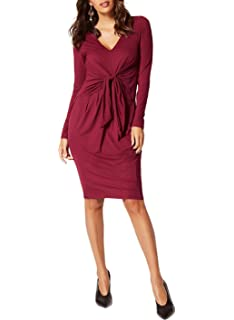 c136721b046b Ex Marks & Spencer Womens Ladies Jersey Wrap Front Flattering Fit Knee  Length Work Office Formal