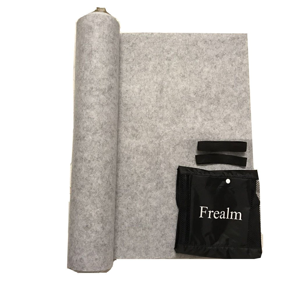 Frealm Puzzle Mat Puzzles Saver Jigsaw Puzzle Storage Playmat with Stringdraw Large Storage Bag and Poster Tube, Up to 1500psc - Grey