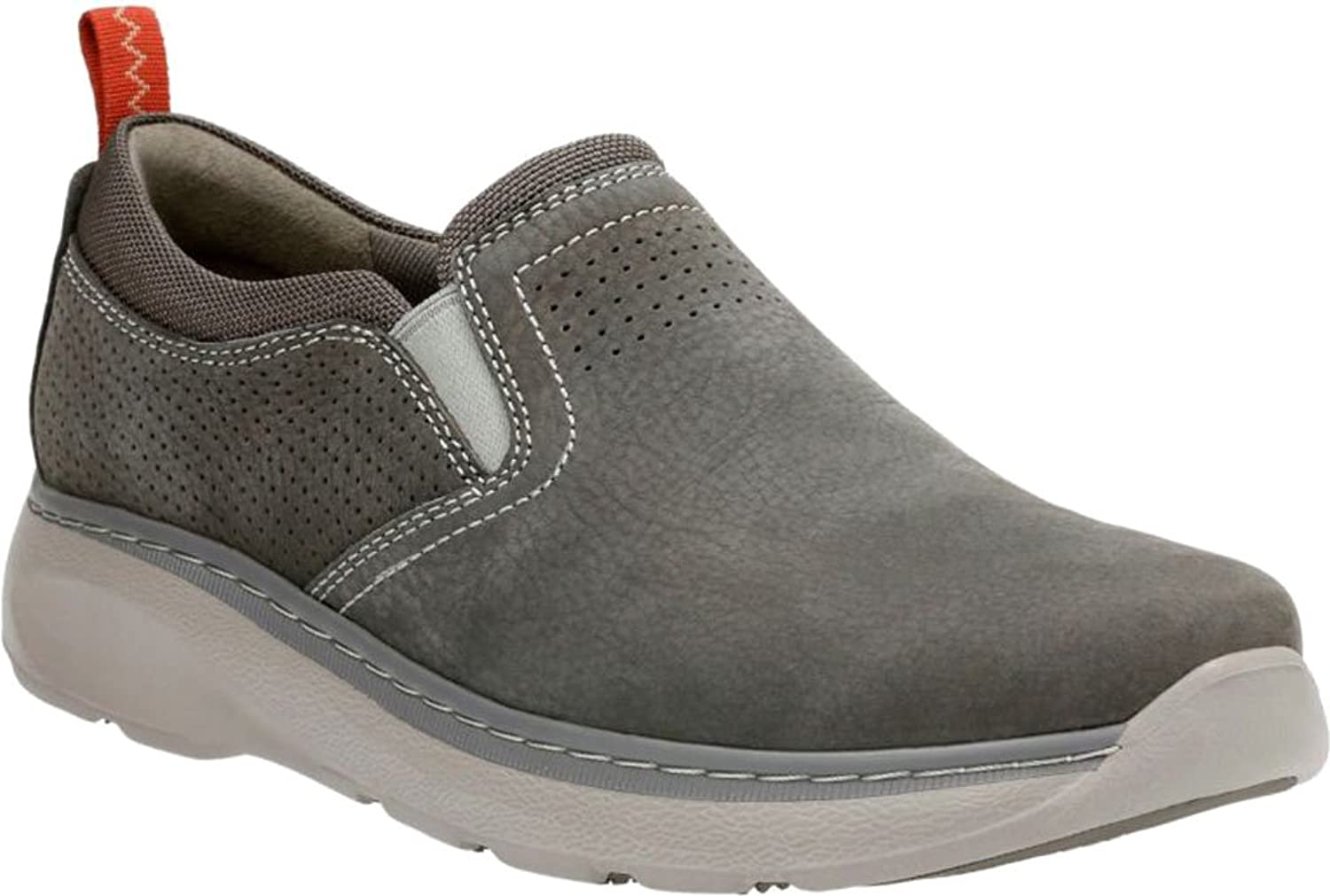 Clarks Men's Charton Free Slip-On Sneaker, Grey Cow Nubuck/Textile, US 13  W: Buy Online at Low Prices in India - Amazon.in