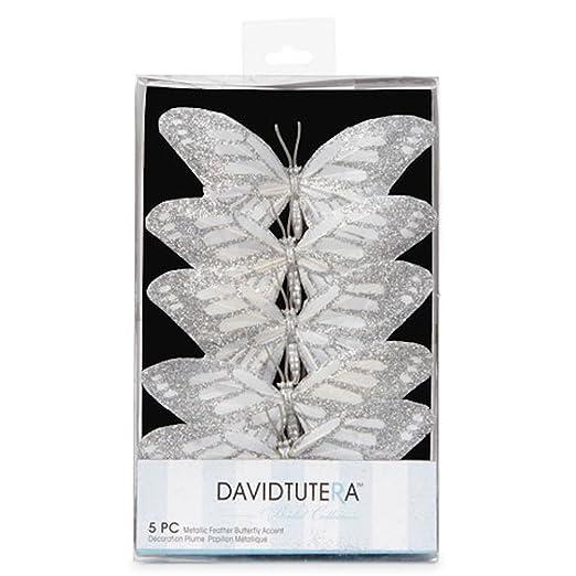 Amazon.com: Butterfly Wedding Decorations: Wired Silver U0026 White Butterflies:  Kitchen U0026 Dining