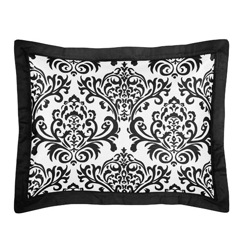 Sweet Jojo Designs 3-Piece Black and White Isabella Childrens and Teen Full/Queen Girls Bedding Set