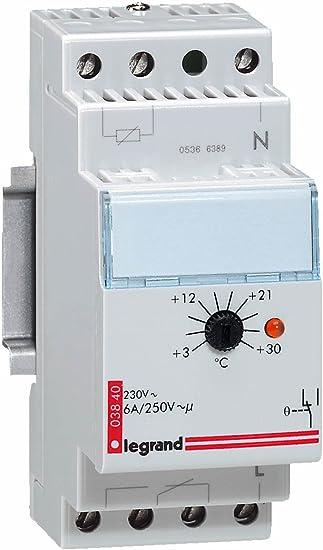 Legrand LEG03840 - Ajuste 3-30 ° C 2 módulos termostato ambiente Tabla: Amazon.es: Bricolaje y herramientas