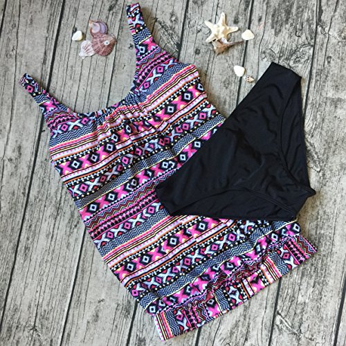 Due Size bagno da Multicolore Bikini Swimwear Donna Pezzi 2017 Estate Plus costumi AHOOME Tankini 3 4p5qwpv0