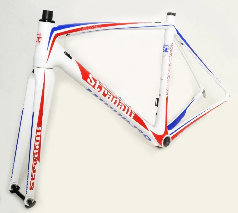 Stradalli Carbon Pro Sport Full Carbon Fiber Road Racing Bicycle Frame set [並行輸入品] B01M27PBDT Medium