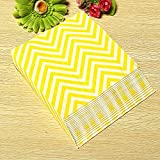 BoatShop 25 PCS Colored Wave Pattern Paper Napkins 2 Layers Party Banquet, Yellow