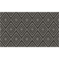RUGGABLE Prism Black Washable Indoor/Outdoor Stain Resistant 3x5 (36x60) Accent Rug 2pc Set (Cover Pad)