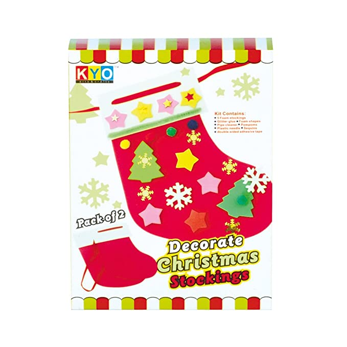 childrens kids make your own christmas stocking kit standard