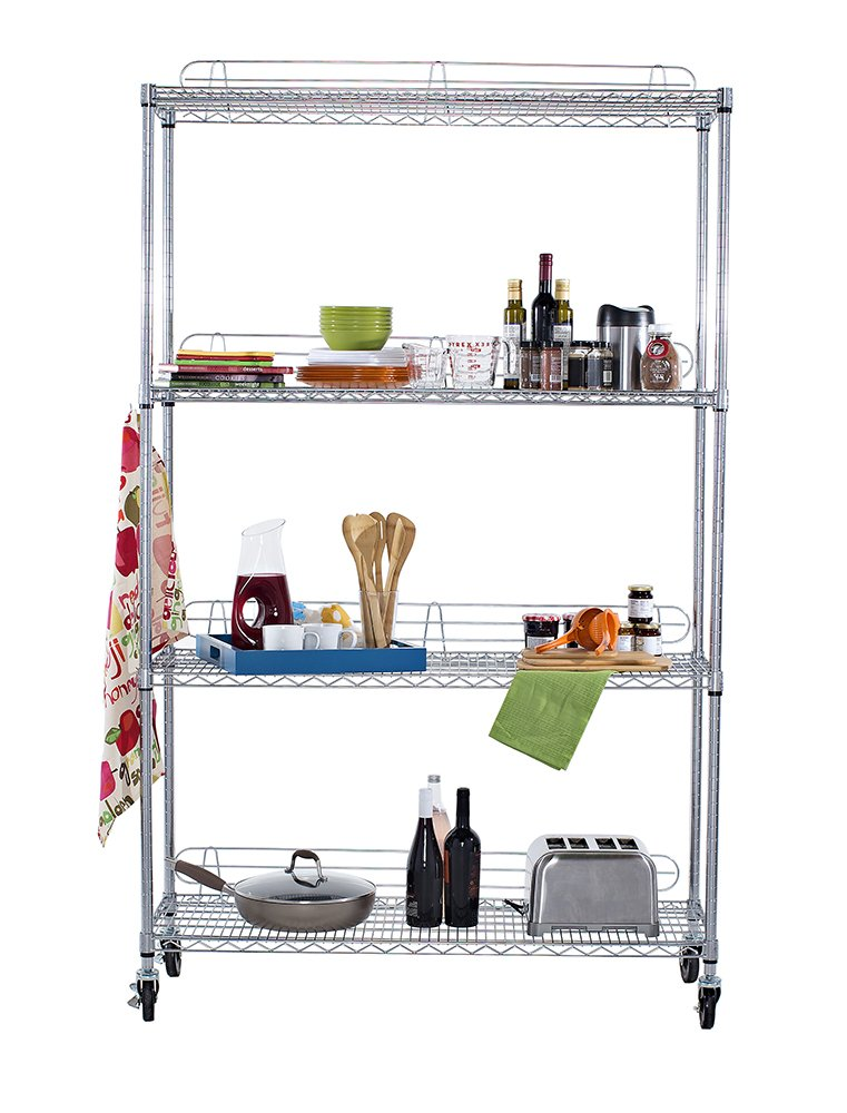 Amazon.com: TRINITY EcoStorage 4-Tier NSF Wire Shelving Rack with ...