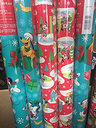 Amazon.com: Disney Mickey Mouse Clubhouse Christmas Wrapping Paper ...