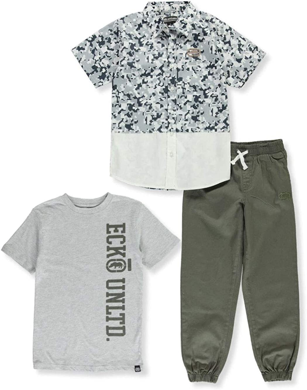 Ecko Boys Short Sleeve Woven T-Shirt and Pant Set