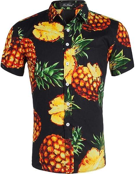 SMACO Camisa Impresa Hawaiana, Camisa de Manga Corta para Hombre Estampada: Amazon.es: Deportes y aire libre