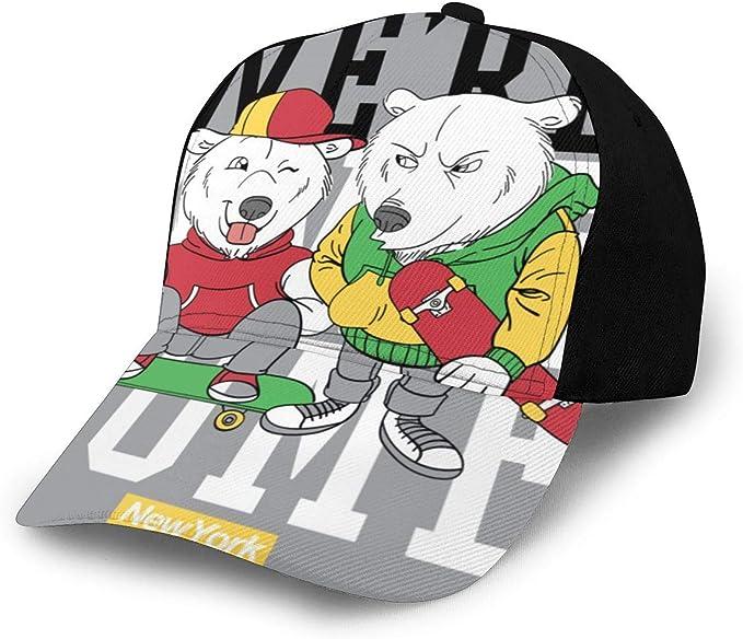 Fabulous_Woo New York Cool Bear Camiseta Ing Gorra de béisbol para ...