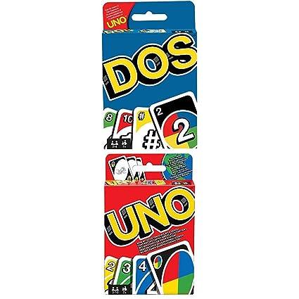 Mattel - Pack de juegos UNO + DOS