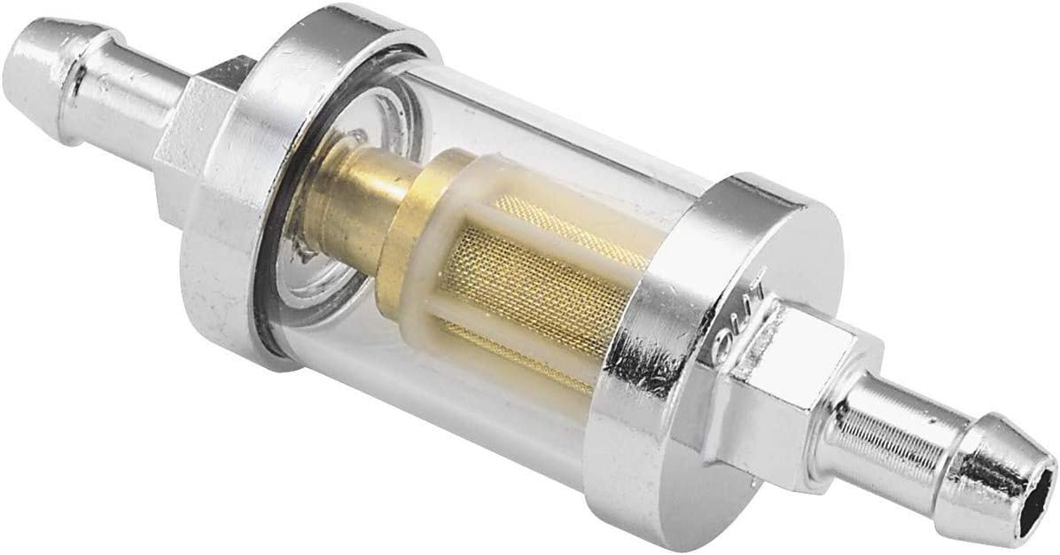 "Universal Fuel Gas Gasoline Inline Motorcycle Filter Harley Custom 1//4/"" Line"