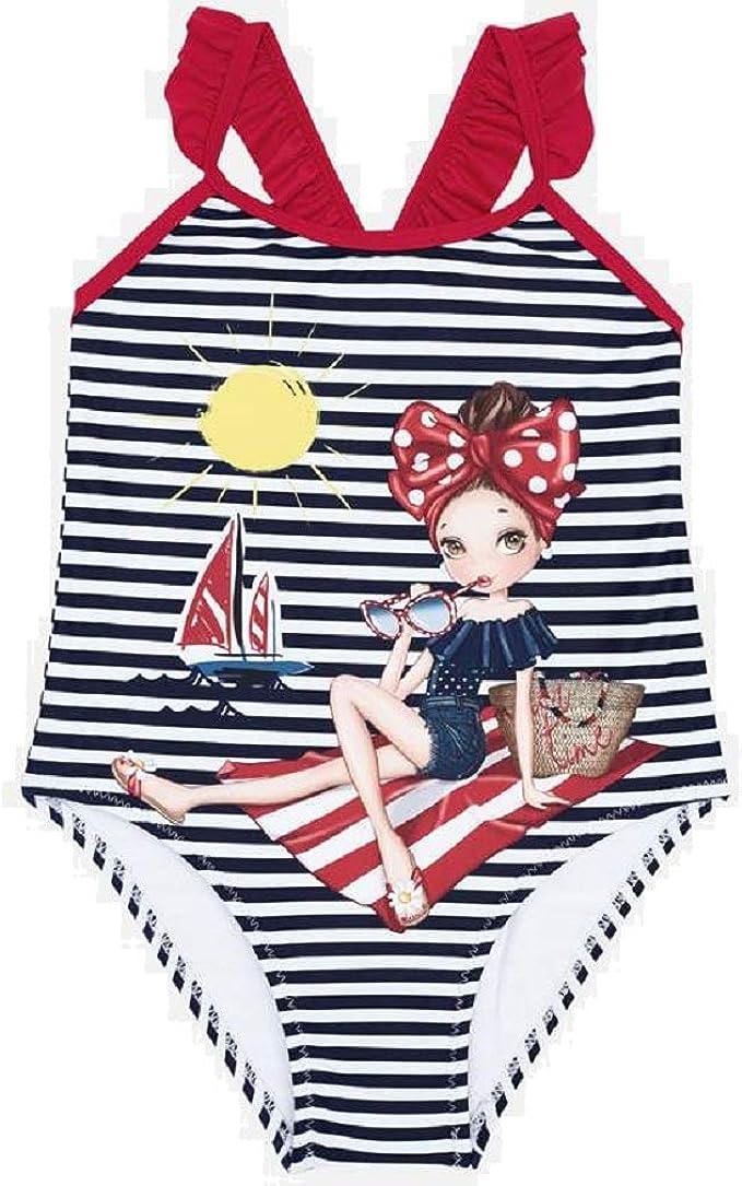 Mayoral 3729 Costume da bagno serigrafato per bambina