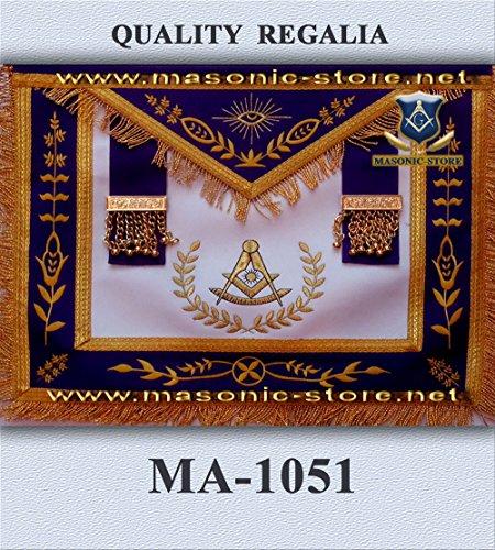 Past Master Apron Purple Gold Eembroidery with (Masonic Past Master Apron)