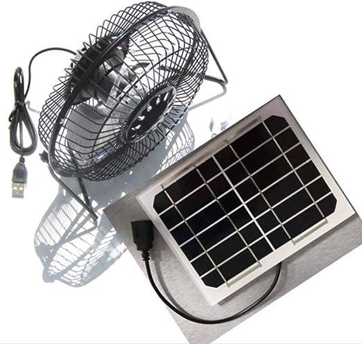 YYANG Ventilador del Panel Solar El Ventilador Solar De 6 Pulgadas ...