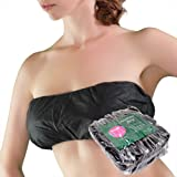 Appearus 50 Ct. Bandeau Bra - Women's Disposable Spa Strapless Bras for Spray Tanning, Individually Pack (Black/DB102BLK)