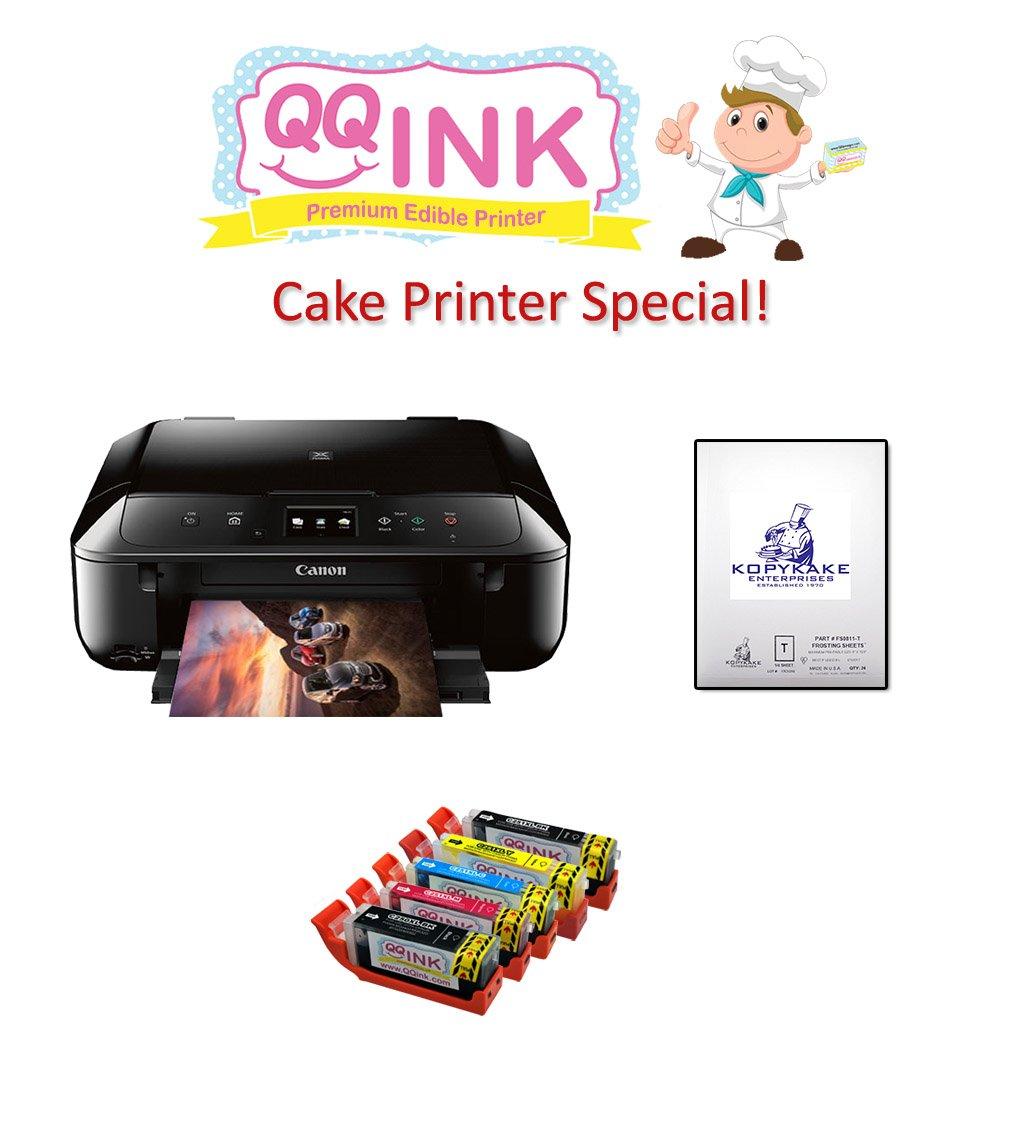 QQink Cake Printer Bundle - Canon MG6820 Comes with Edible Ink & KopyKake Frosting Sheet