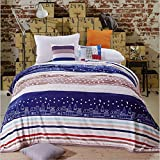 FORSHUYU Fleece Blankets Super Soft Thermal Warm Fuzzy Microplush Lightweight Blankets for Bed Sofa