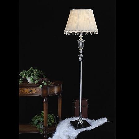 Mena Home- Lámpara de pie con lámpara de pie de Cristal Habitación de Hotel Lámpara de pie con lámpara de Cristal Villa / E27: Amazon.es: Hogar