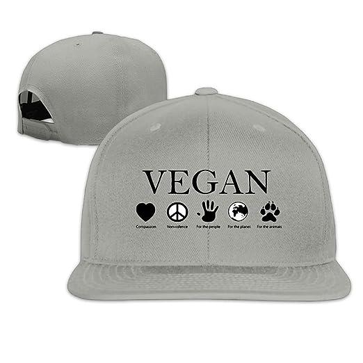 227726f2bf94e Vegan Vegetarian Snapback Hip Hop Baseball Caps For Men Women at Amazon  Men s Clothing store