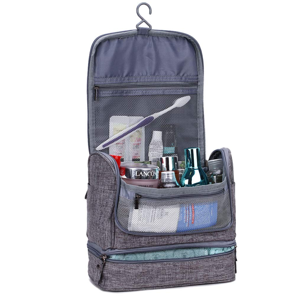 HiDay Hanging Travel Toiletry Bag Dry Wet Separated bag Organizer