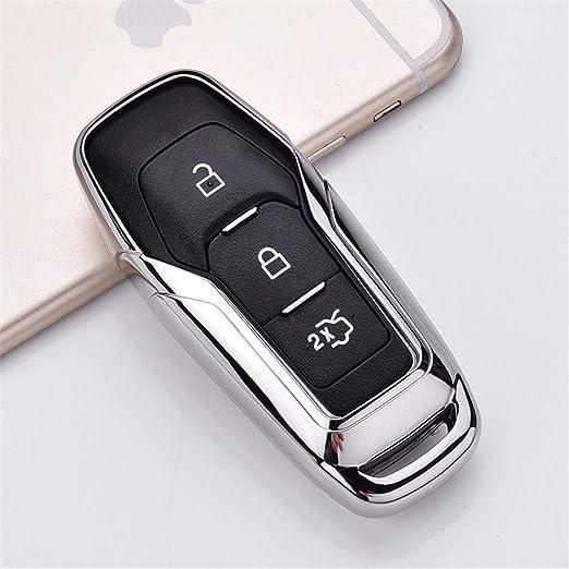 XUWLM Llaveros de automoción TPU Car Smart Remote Key Case ...