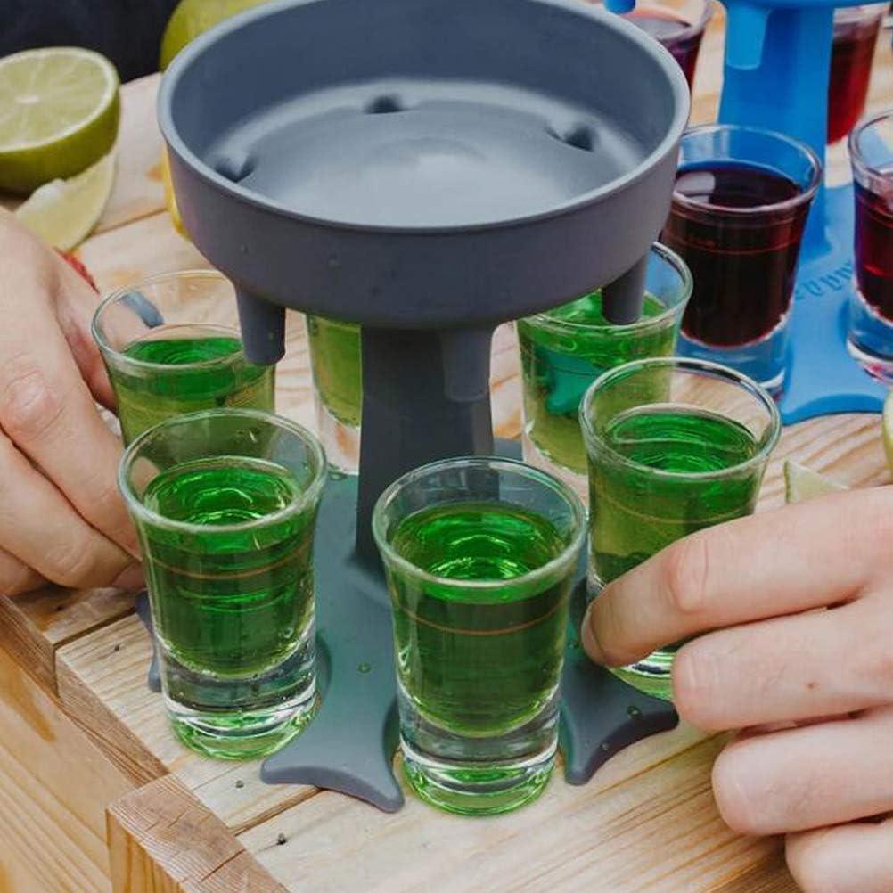 6 Shot Glass Dispenser and Holder//Liquor Dispenser Party Gifts Christmas Decor
