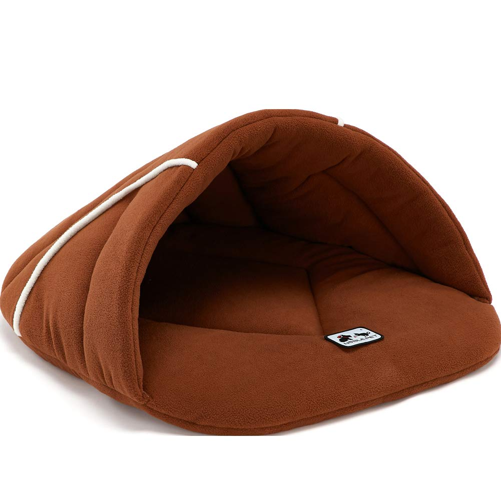 Brown X-Small Brown X-Small Dog Bed Pet Cushion Luxury Soft Warm Basket Puppy Mat Large Small Comfy Six colors Fleece