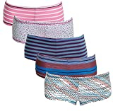 Emprella Underwear Women Cotton Sexy Boyshorts Panties - 6 Pack (Large, Assorted)