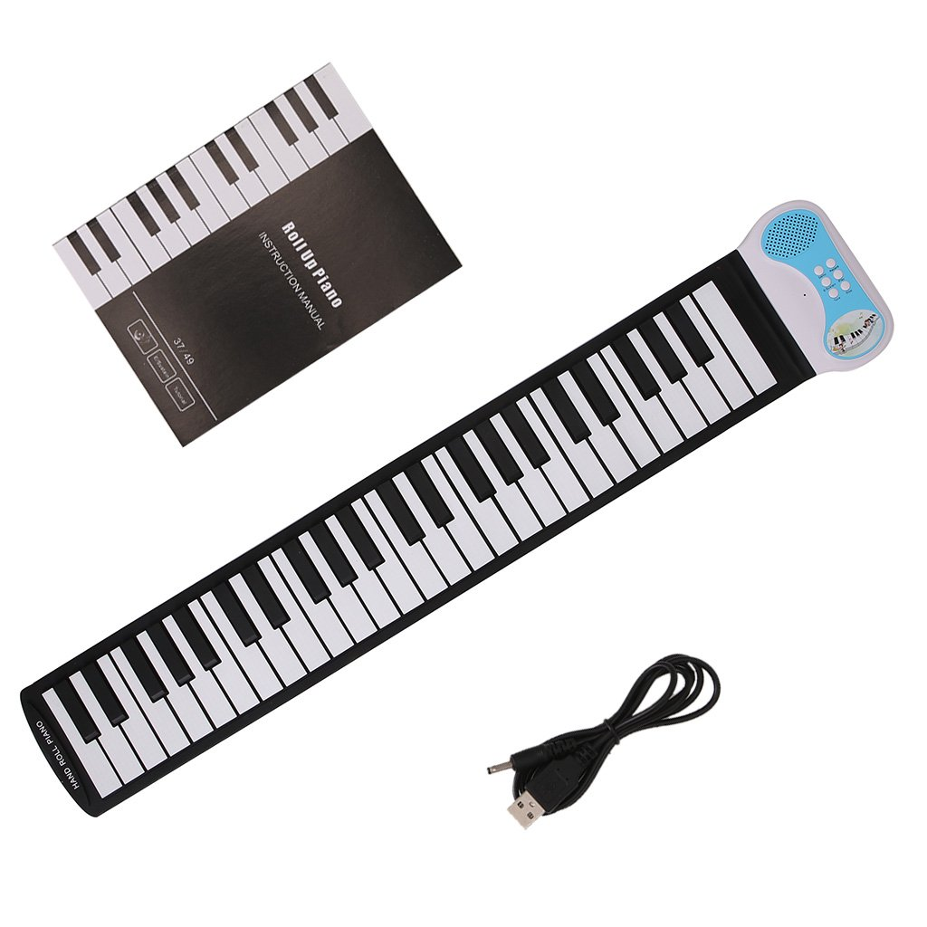 ULKEME 37 Keys Silicone Flexible Hand Roll Up Piano Soft Electronic Keyboard For Kids