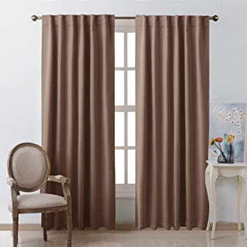 Blackout Curtain Panel For Living Room   (Cappuccino Color) 52 Inch Wide By  84
