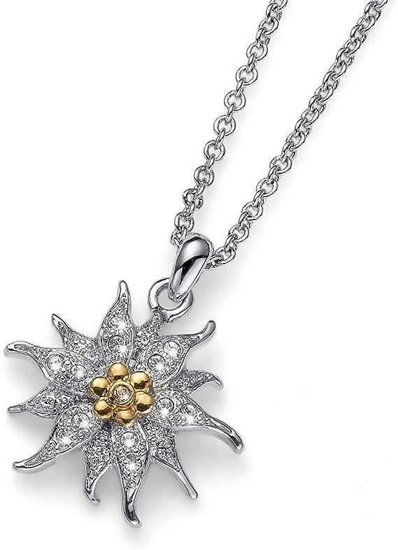 Oliver Weber Collection Collier plaqué rhodium pour femme - Collection de  bijoux de qualité supérieure - Pendentif avec cristal Swarovski - Cadeau ...