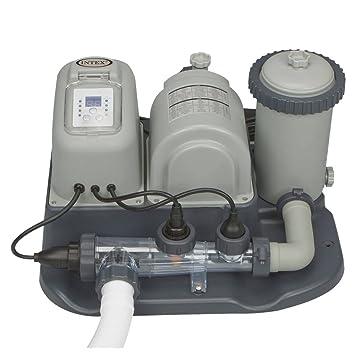 Intex Combo - Depuradora de Cartucho y cloración Salina, 26.500 litros: Amazon.es: Jardín