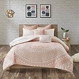 Urban Habitat Larisa 7 Piece Cotton Reversible Comforter Set Blush Full/Queen