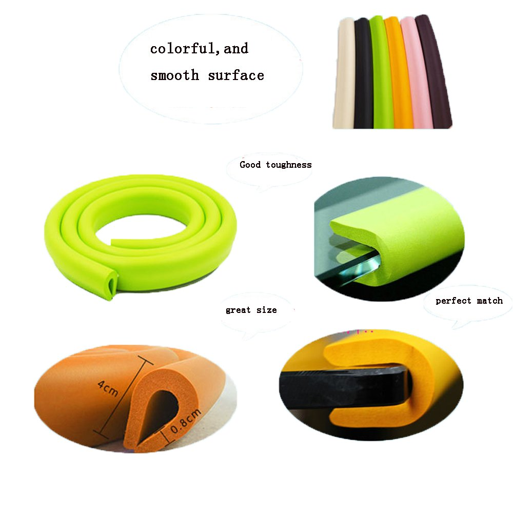 HOUTBY/™ 3 x 2 Meter Foam Baby Safety Proofing Edge Corner Guard Protector Soft Child Edge Cushion Table Safety Bumpers Sets for Kids Toddlers