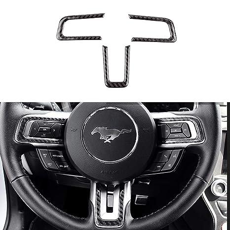 TopDall Carbon Fiber Steering Wheel Center 3D Sticker Cover Trim For Honda Civic 2016-2019