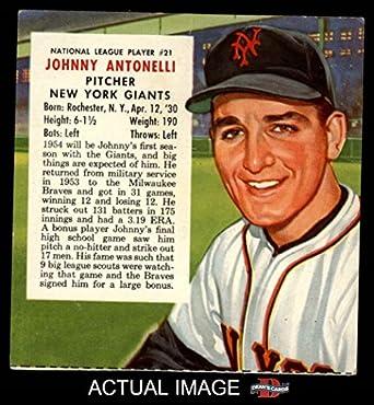 dea7b86c1 Amazon.com  1954 Red Man   21 NL x John Antonelli New York Giants ...