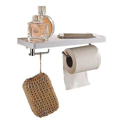 bosszi 3 in 1 wall mount toilet paper holder sus304 stainless steel bathroom tissue holder