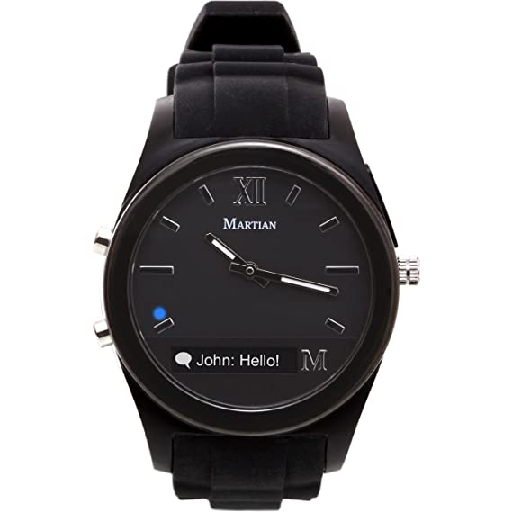 1fe80a9c355 Amazon.com  Martian Watches Notifier Smartwatch - Black  Cell Phones ...
