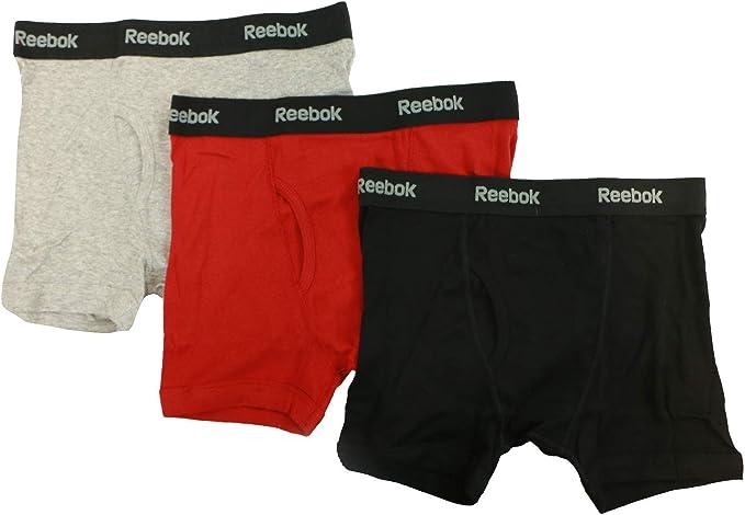 Reebok - Calzoncillos bóxer de algodón para hombre (3 unidades): Amazon.es: Ropa y accesorios
