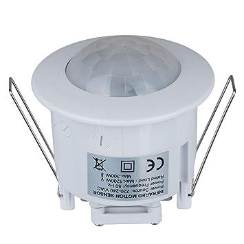Detector de Movimiento de Techo empotrable 360 Grados PIR 1200 W Detector de Movimiento Detector de