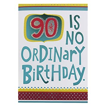 Hallmark 90th Birthday Card For Him No Ordinary