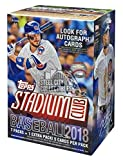 Stadium Club 2018 Topps Baseball Baseball 8ct Blaster Box - Factory Sealed