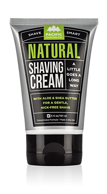 Pacific Shaving Company All Natural Shaving Cream 3 oz (Pack of 3)