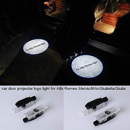 Juego de 2 luces LED para proyector de puerta de coche para ...