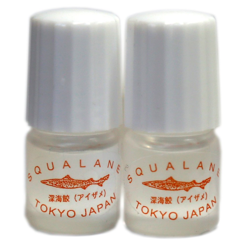 Squalane Oil 3 ml Sample Vials 100% Natural Anti Aging and Anti Wrinkle Pure Essential Oil Japanese Skincare - Best For Treating Dry and Sensitive Skin