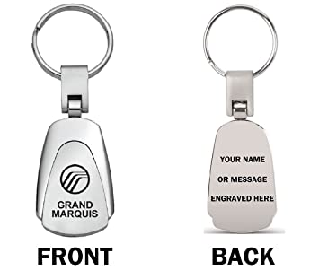 Amazon.com: Personalized Mercury Grand Marquis Keychain ...